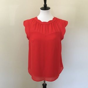 Monteau Red Romantic Top